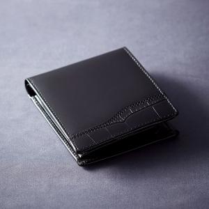 ニノリバ ベラ付二つ折れ財布(ブラック) NR-101
