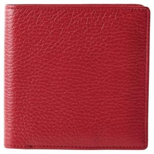 良品工房日本製2つ折財布 エンジ B1110-204RE