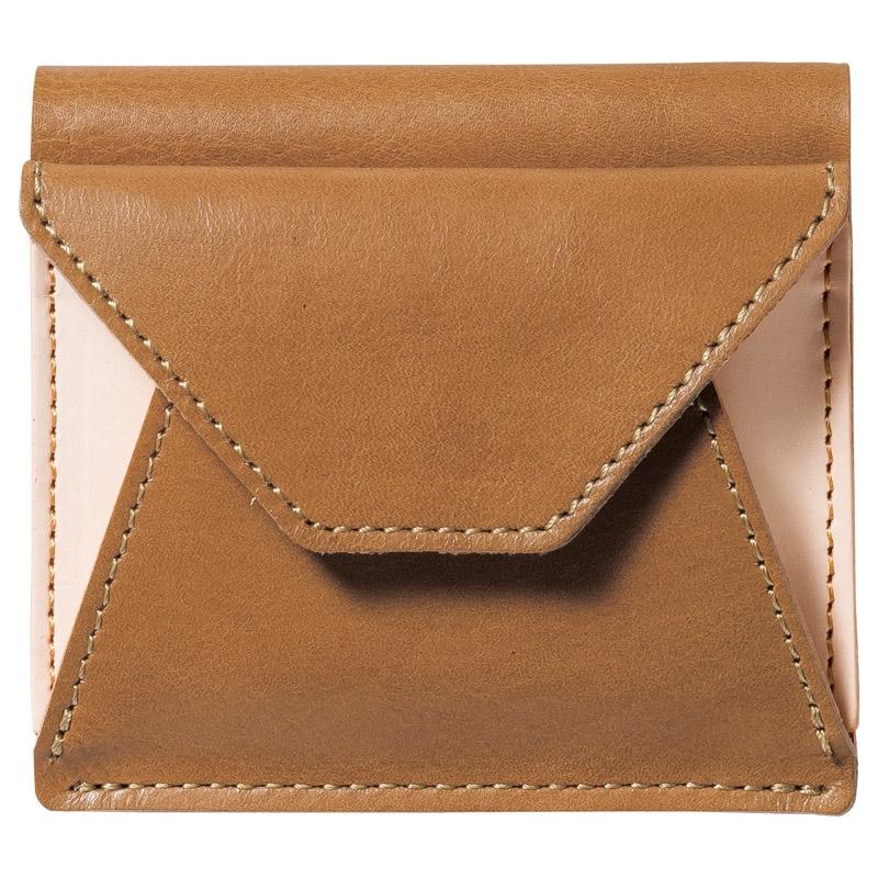 ヌメ革二つ折り財布 キャメル OJ-1004