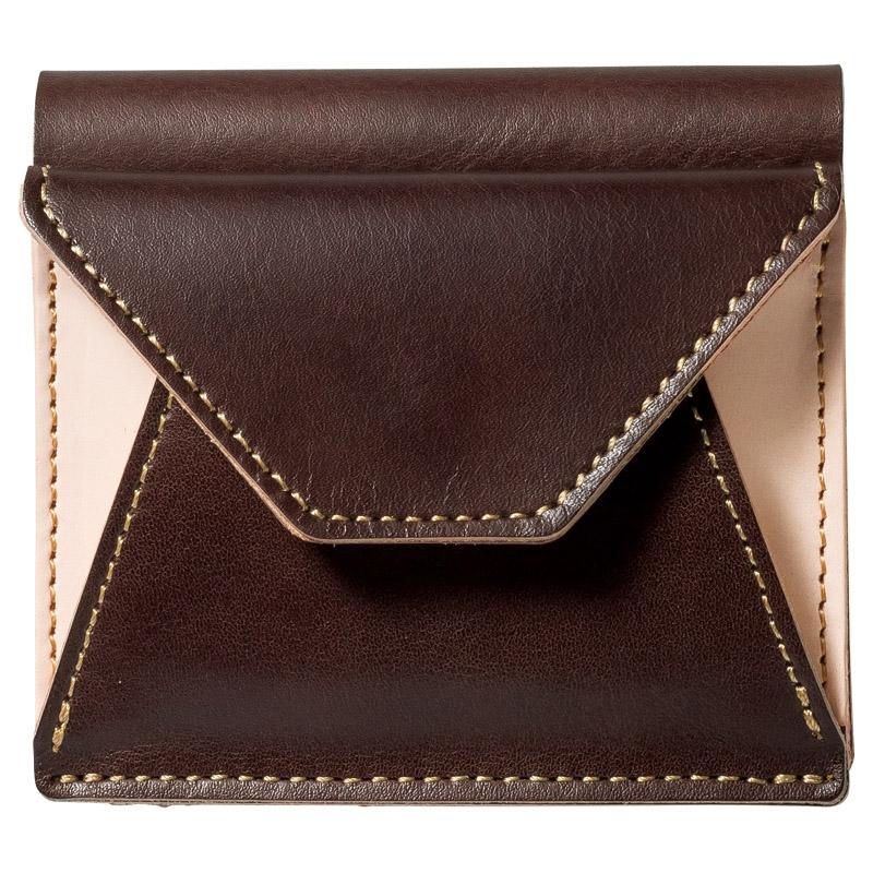 ヌメ革二つ折り財布 チョコ OJ-1004