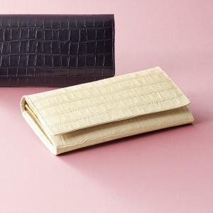 カンサイ婦人用型押長財布ベージュ S-KS8100010BE