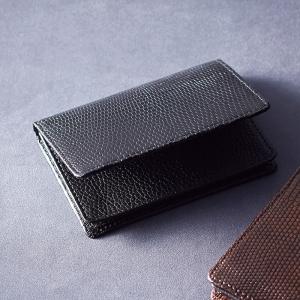 リザード名刺入れ ブラック S-NOM15396BK