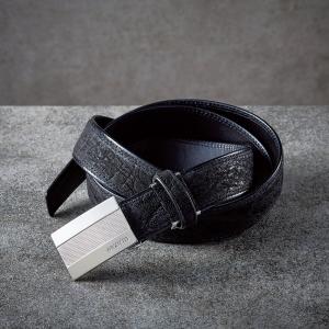 ファゴット 象革ベルト(ブラック) FBL-03