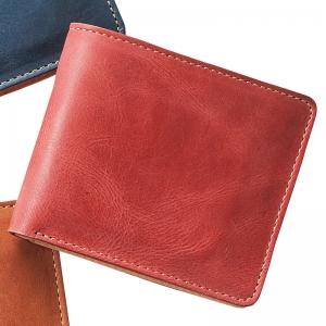 ヌメ革財布 レッド OJ-4021