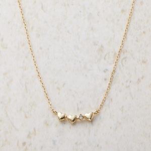 ルーシールーシー ダイヤモンド トリプルハートネックレス 3326