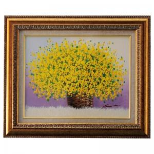 手描き油絵(6号) 「黄色のブーケ」 N15-410
