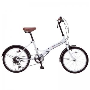 マイパラス 20インチ折畳自転車 シルキーホワイト M205