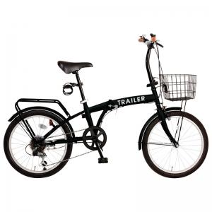 TRAILER 20インチ折タタミ自転車 ブラック GF-F20-BK