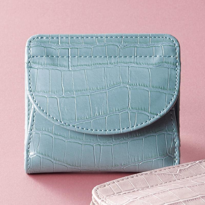 イルムス ホック式財布 ブルー