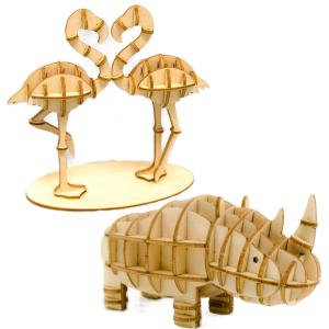 Wooden Art ki-gu-mi どうぶつセットA
