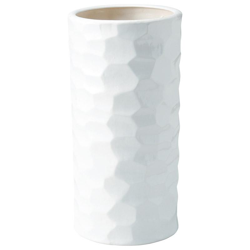 陶器傘立て ホワイト