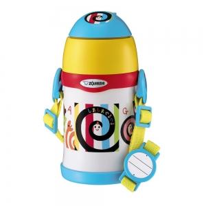 象印学童用【しましまぐるぐる】ステンレスボトル(ストロータイプ)【0.45L】STZH45S-EW