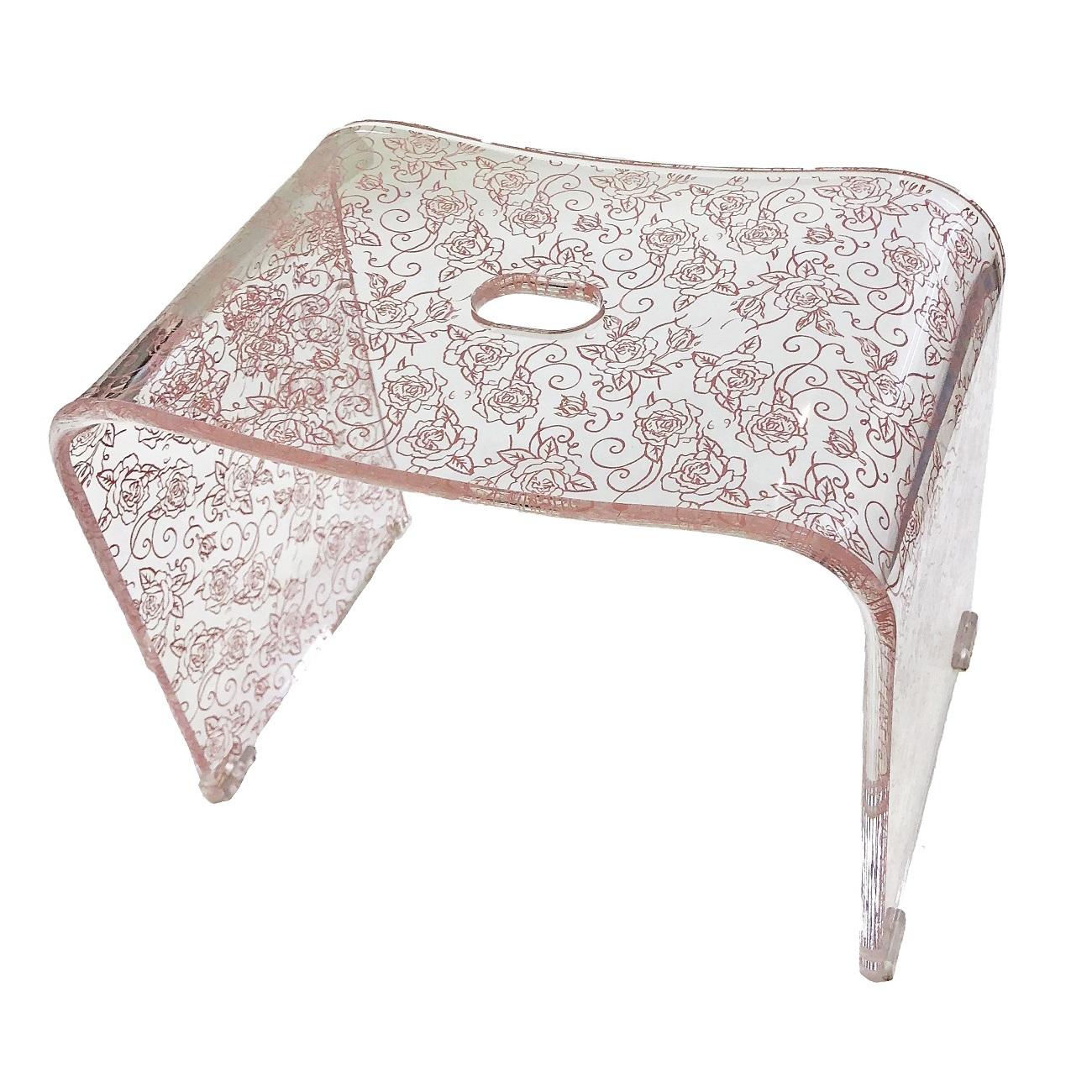 クリアローズN バスチェア Lサイズ(高さ:約30cm) ピンク