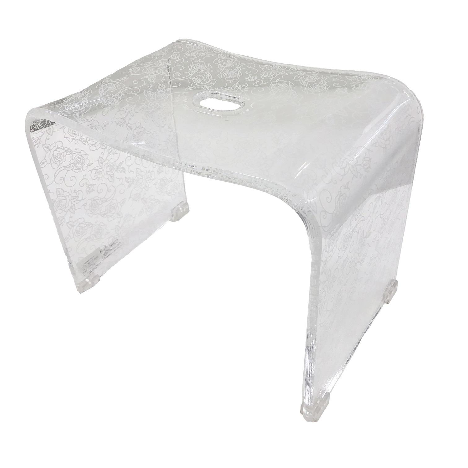 クリアローズN バスチェア Lサイズ(高さ:約30cm) ホワイト