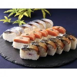 国産鯖と鮭の冷凍棒寿司3種セット