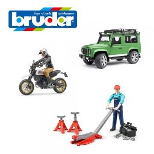 【オフロードカーセット】Ducatiスクランブラーデザートスレッド+Land Rover Def.ワゴン+車両整備士