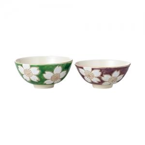 かより 彩白桜花 組飯碗