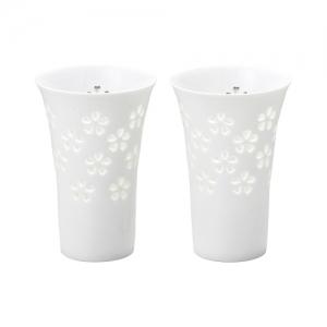 水晶彫 ペアカップ 桜