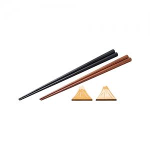 兵左衛門 末広がり丸八組箸(黒・茶)