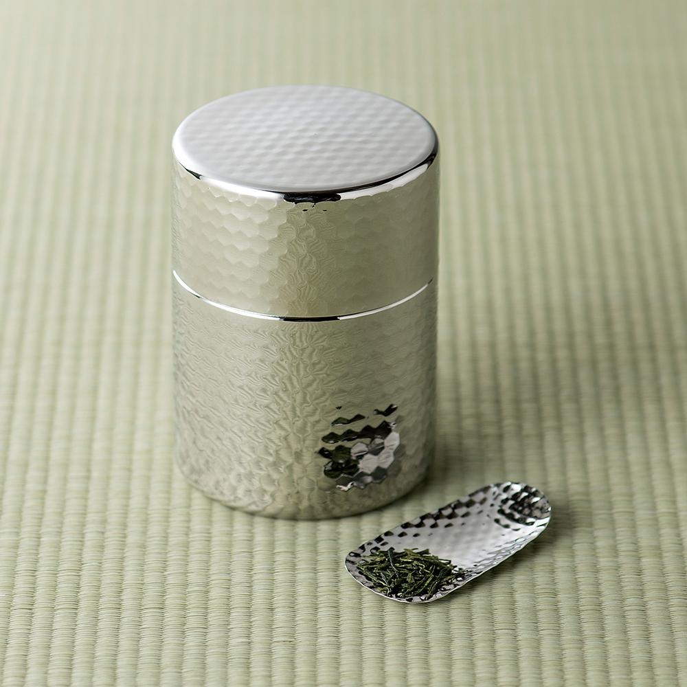 郷技 ステンレス茶筒(茶箕付)