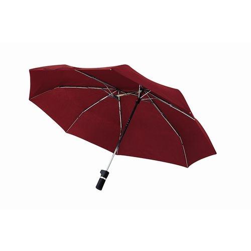 軸をずらした折りたたみ傘 Sharely レッド