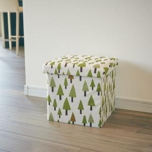 座ってしまえて畳める便利ボックス 2個セット