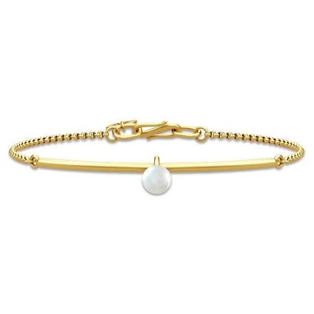 PERLA BRACELET - GOLD/WHITE PEARL