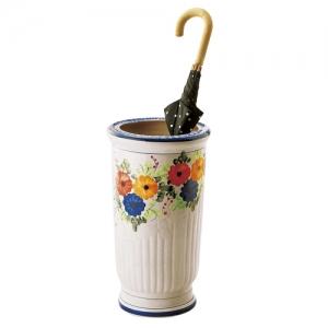 花柄陶器傘立