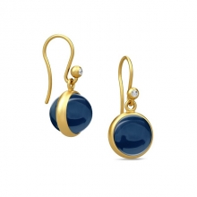 PRIME EARRING/SAPPHIRE BLUE CRYSTAL