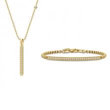 LINEA NECKLACE - GOLD・LINEA BRACELET-GOLD