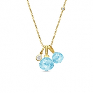 JOY NECKLACE/SKY BLUE CRYSTAL