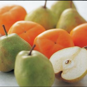 柿とラ・フランス